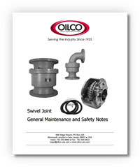 Swivel Joint Maintenance Notes
